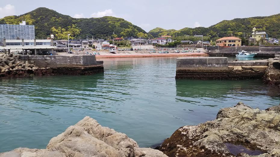 江見港の釣り座