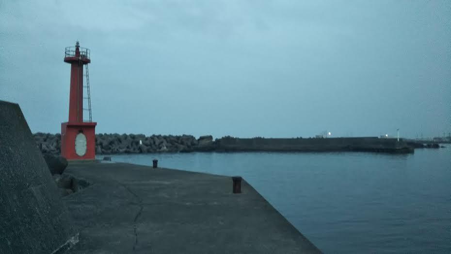 夕方の千倉港