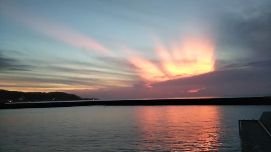 浜田港の夕焼け