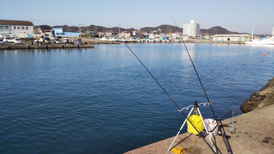 千倉港での釣り