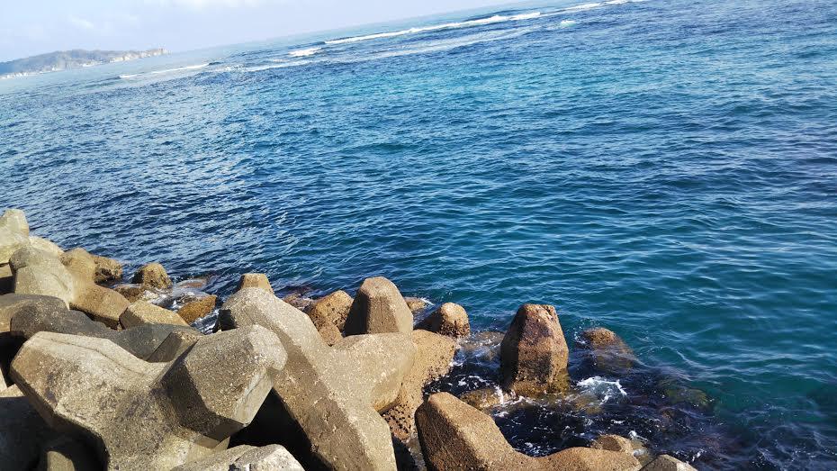 澄んだ潮の勝浦の海