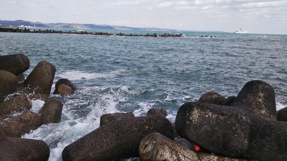 千倉町の堤防