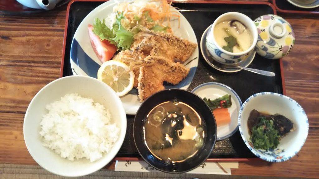 和食「網元」のアジフライ