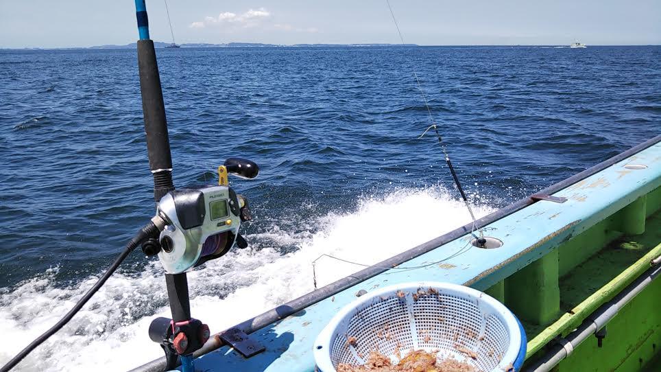 「利八丸」でのイサキ釣り