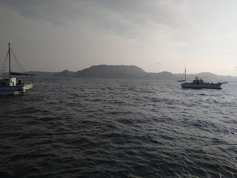 アジの沖釣り
