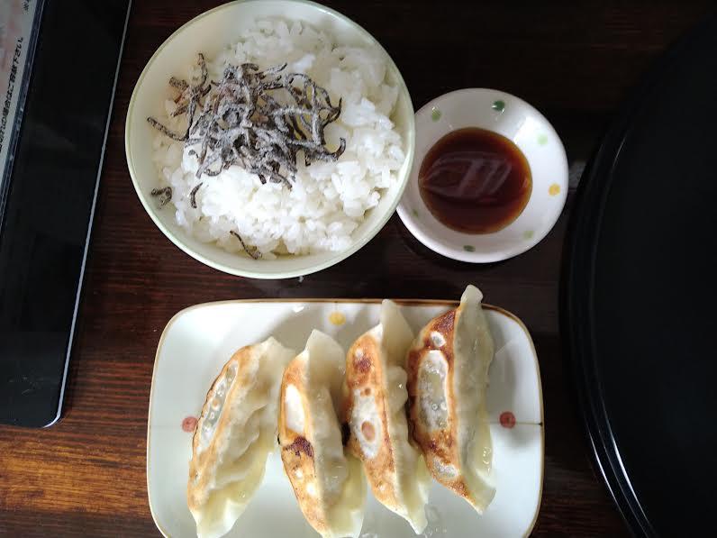 館山ラーメン「梅軒」の料理