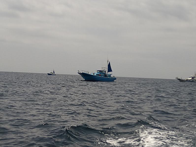 マダイ釣りの船